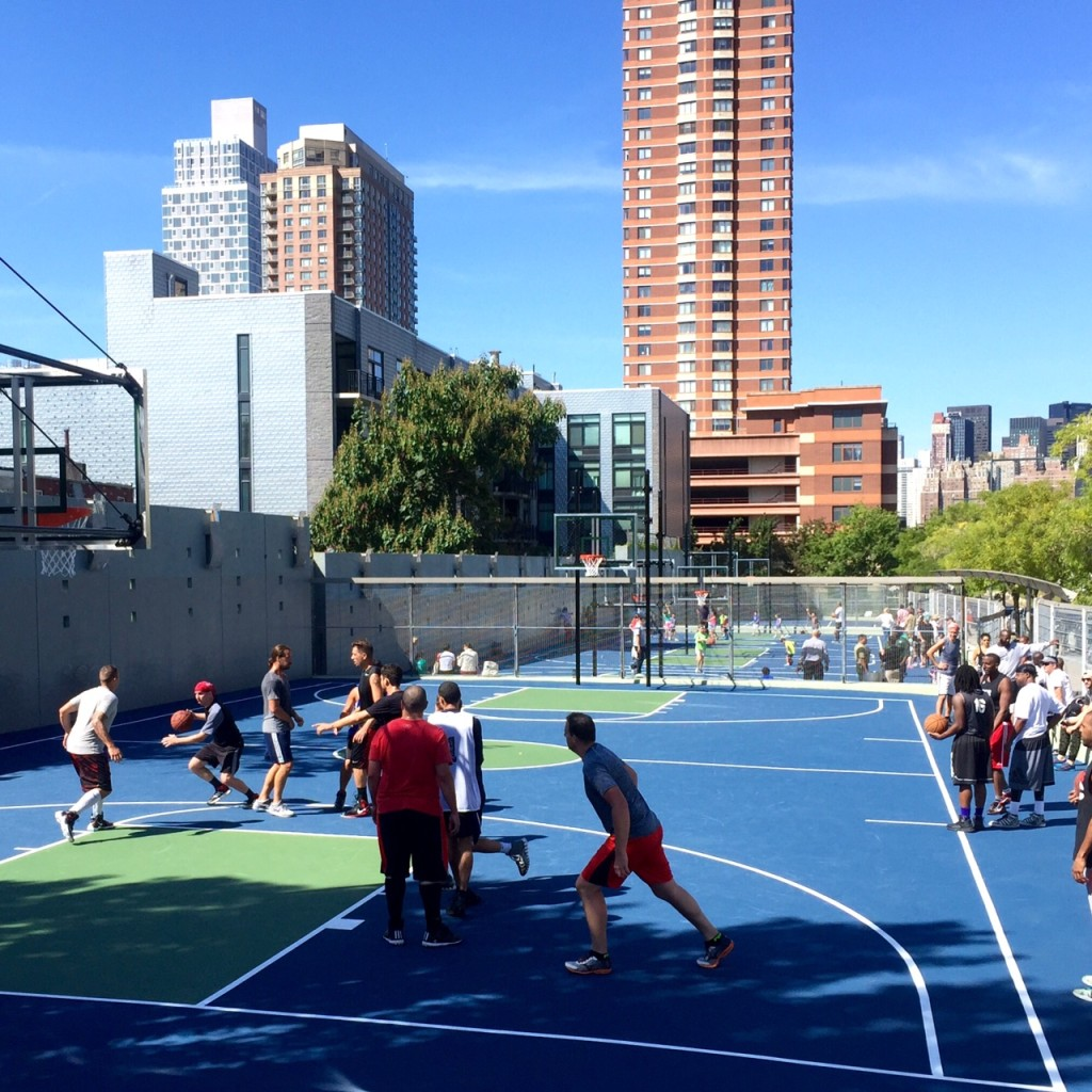The big kick-off at the 48th Ave Basketball Courts.  Courtesy Nick Knight