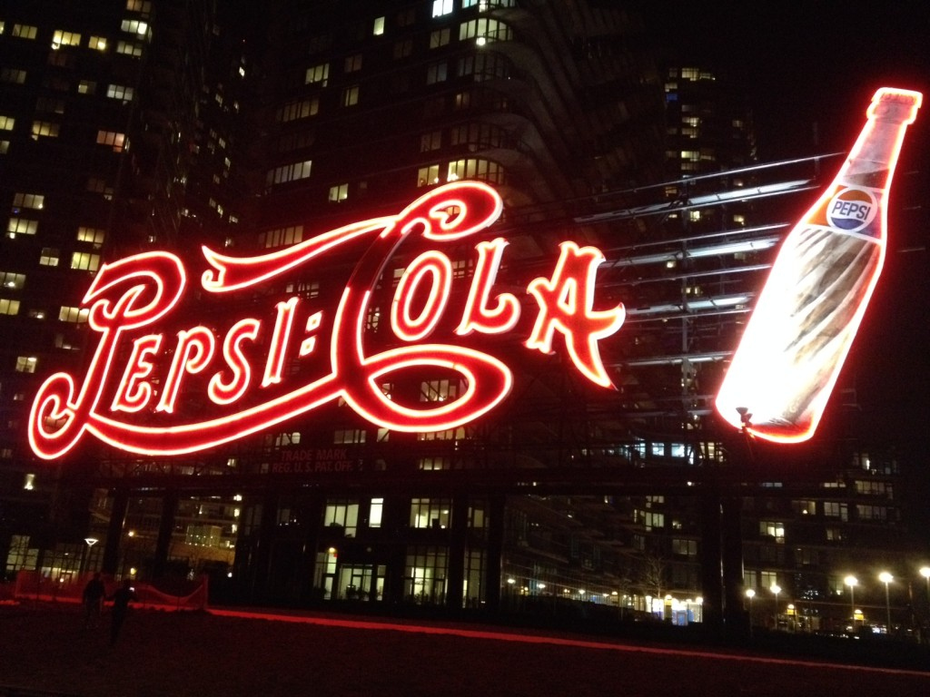 No Coke, Pepsi.  The official soft drink of Long Island City