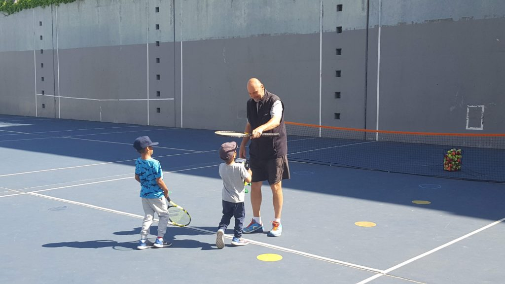 Joseph Orlic teaching tennis in Long Island City