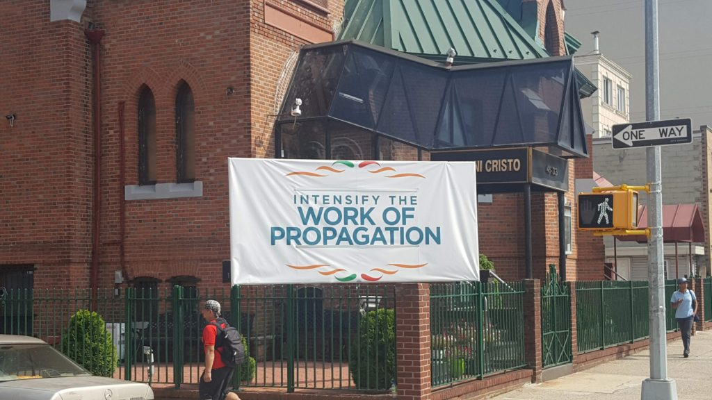 Intensify the work of propagation - Iglesia De Cristo Long Island City
