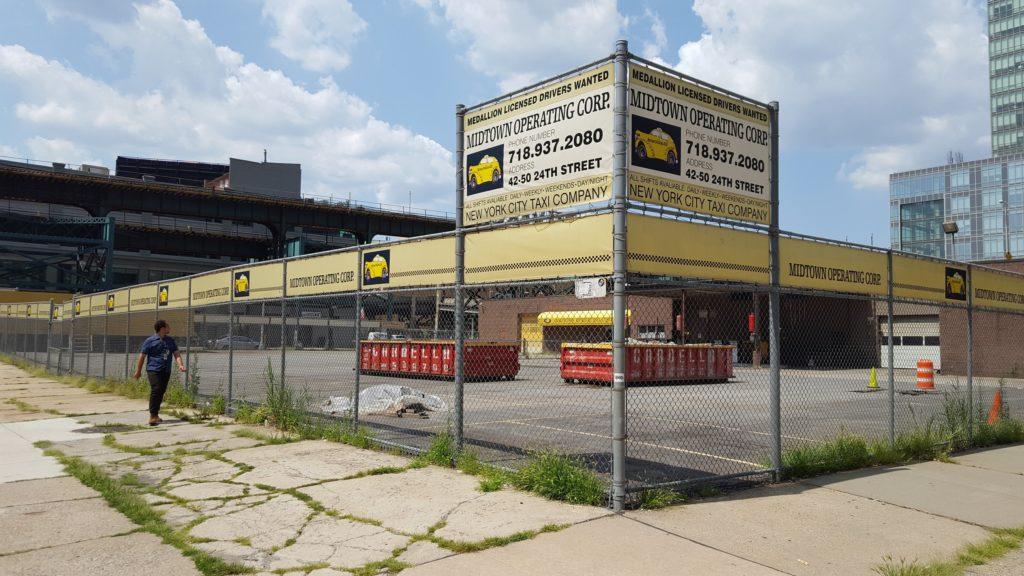 Long Island City taxi depot