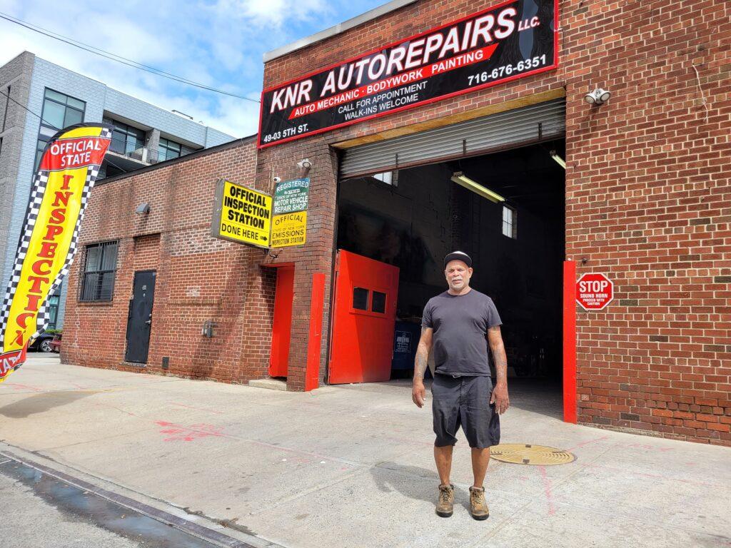 Rick Dhoman at KNR AutoRepairs Long Island City